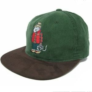 Stussy Urban Outfitters Rat Corduroy Suede Cap/Hat